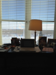 My writer's window - winter out there!