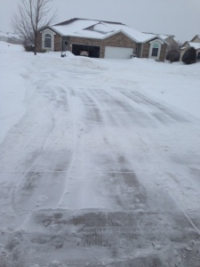 driveway before leaving