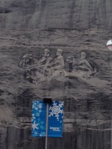 The famous carving on the side of Stone Mountain. Quite impressive!