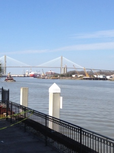 The Talmadge Bridge-Our way out of Savannah and on to Charleston
