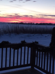 Sunrise over Maple Park